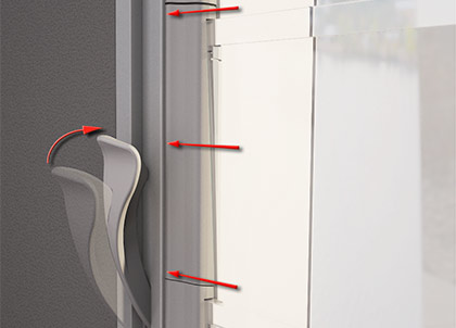 Breezway living hinge design