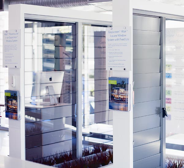 View of the Breezway Louvre Window showroom at Coorparoo, Brisbane