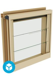 Breezway Powerlouvre in Easyscreen Window System 3D interactive model