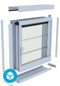 Breezway Louvre Easyscreen frame with sub frame system