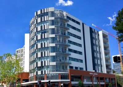 bankstown street front apartments with breezway louvres