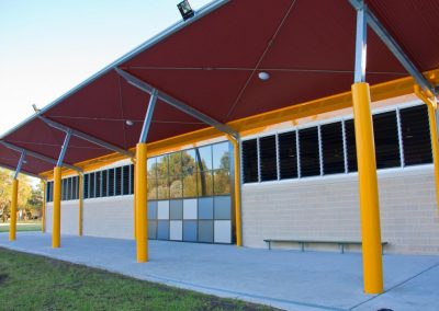 Exterior view of Powerlouvres in school hall