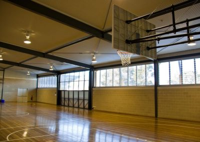 Powerlouvres up high still leave plenty of space for school activities and ball games