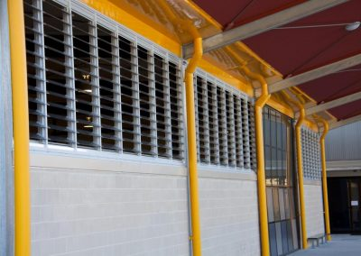Outside view of Powerlouvre windows in school