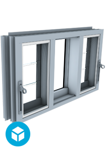 Breezway Louvre Innoscreen window 3D interactive model