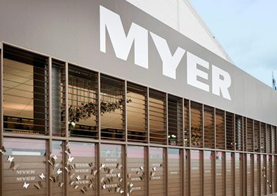 Myer uses Louvre Windows for Guest Entertainment Marquee