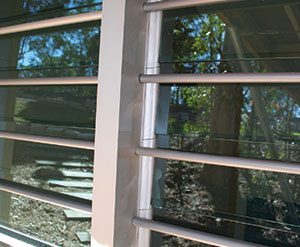 Breezway Altair Louvre Security Bars in the Easyscreen Window Frame