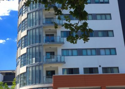 side view of bankstown apartments