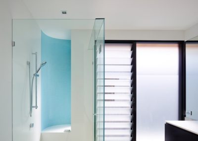 Breezway Louvre Windows in bathroom with obscure glass blades