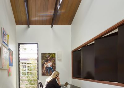 One bay Breezway Louvre Window gives light and ventilation in study