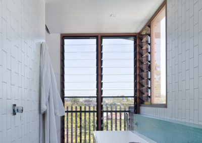 Two bay Breezway Louvre Window in bathroom