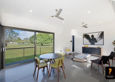 Living and Dining area have extended views of Townsville Golf Course