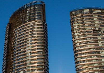 Two Residential Towers using Breezway Altair Louvre Windows with the Stronghold System for added strength and safety