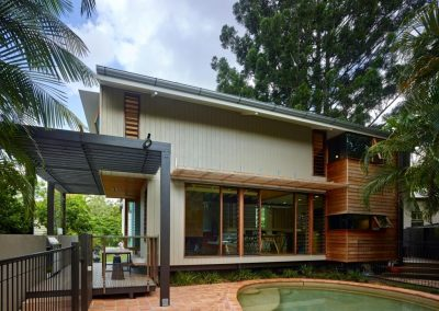 Exterior shot of house with Breezway Breezway louvres - Ashgrove Residence