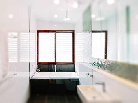 Breezway louvres in the bathroom