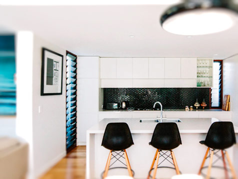 Breezway Louvres in the Kitchen Byron Bay
