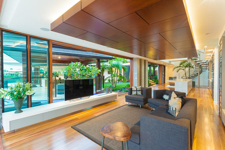 tropical house resort style capturing sea breezes