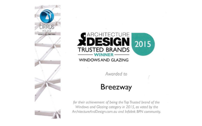 Breezway Voted Winner of Trusted Windows and Glazing Brand