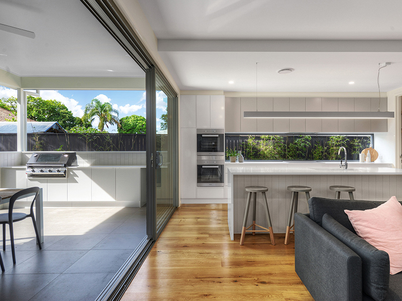 Urban charisma indulgence of air space for Indoor outdoor kitchen designs