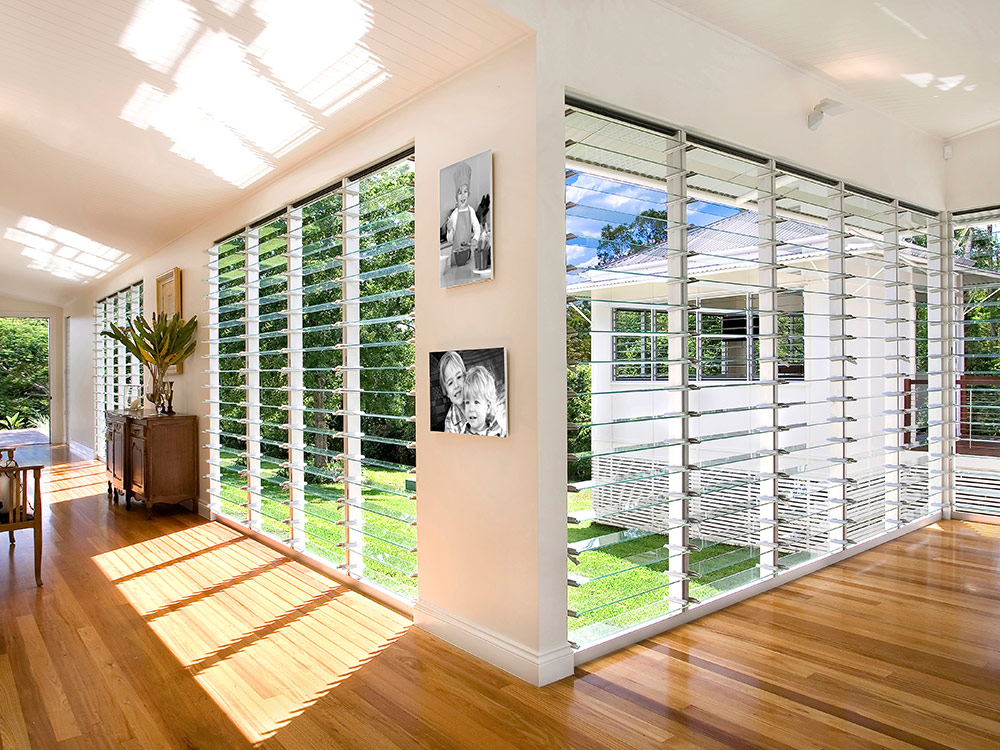 Floor to ceiling louvre window applications australia Ceiling window