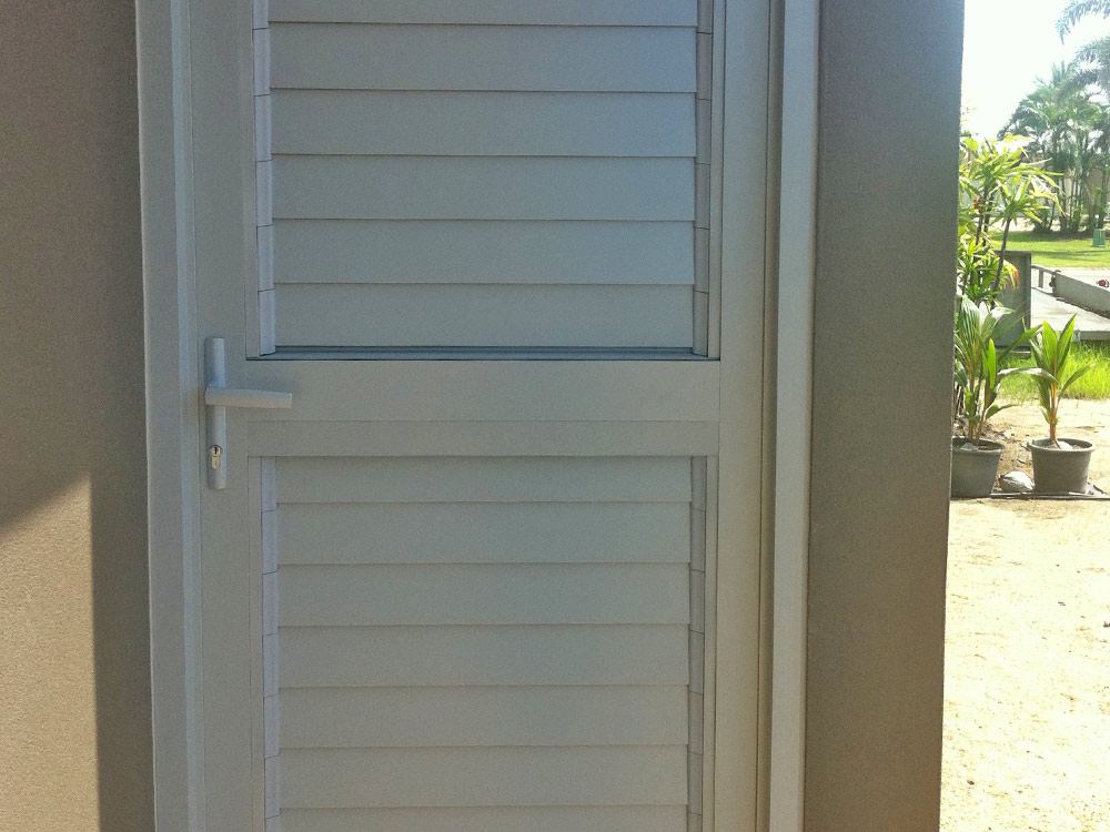 Breezway Louvre Windows in single door & Using Louvre Windows in Doors | Australia