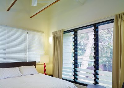 Install Breezway Louvres with low profile handles so they don't get in the way of curtains