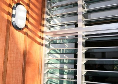 Security bars can be installed on Breezway Louvres to keep a home safe while still allowing air to flow in when open