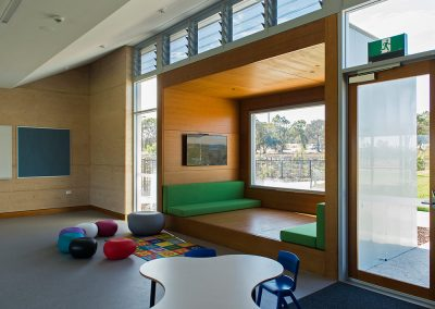 Breezway Powerlouvres in learning environments can be operated depending on the weather conditions to keep students comfortable