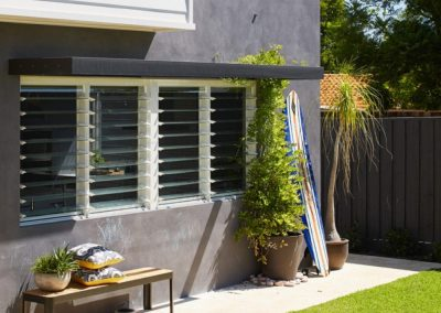Breezway Louvres can be screened internally to maintain that louvre look