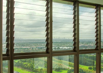 Optimise views from high rise buildings with Breezway Louvres