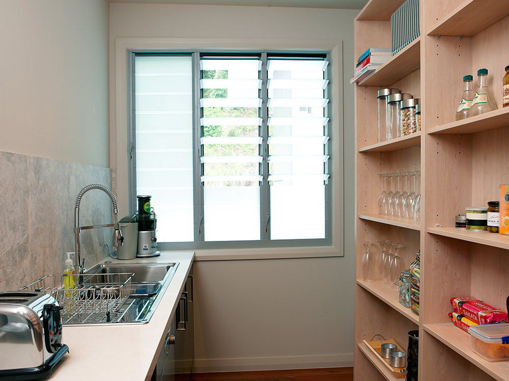 Breezway Louvres With Frosted Glass Can Maintain Privacy While Ventilating  Small Pantry Areas In The Home