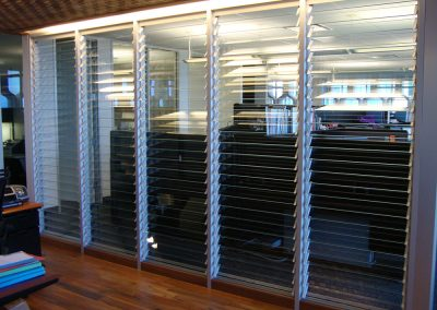 Breezway Louvres in meeting rooms can provide views to other areas of the building