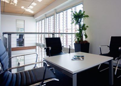 Breezway Louvres in office buildings keep employees connected to nature throughout the day