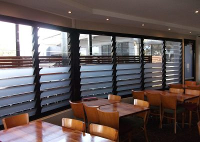 Breezway Louvres can have mixed glass blades installed