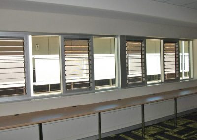 Breezway Louvres allow natural ventilation in to stimulate minds and improve learning outcomes