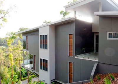 Breezway Louvres with timber blades can add warmth to a design