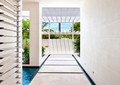Breezway Louvres create aesthetic appeal inside modern walkways