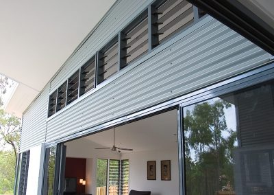 Multiple bays of short, wide Breezway Louvres are ideal for allowing heat to escape up high