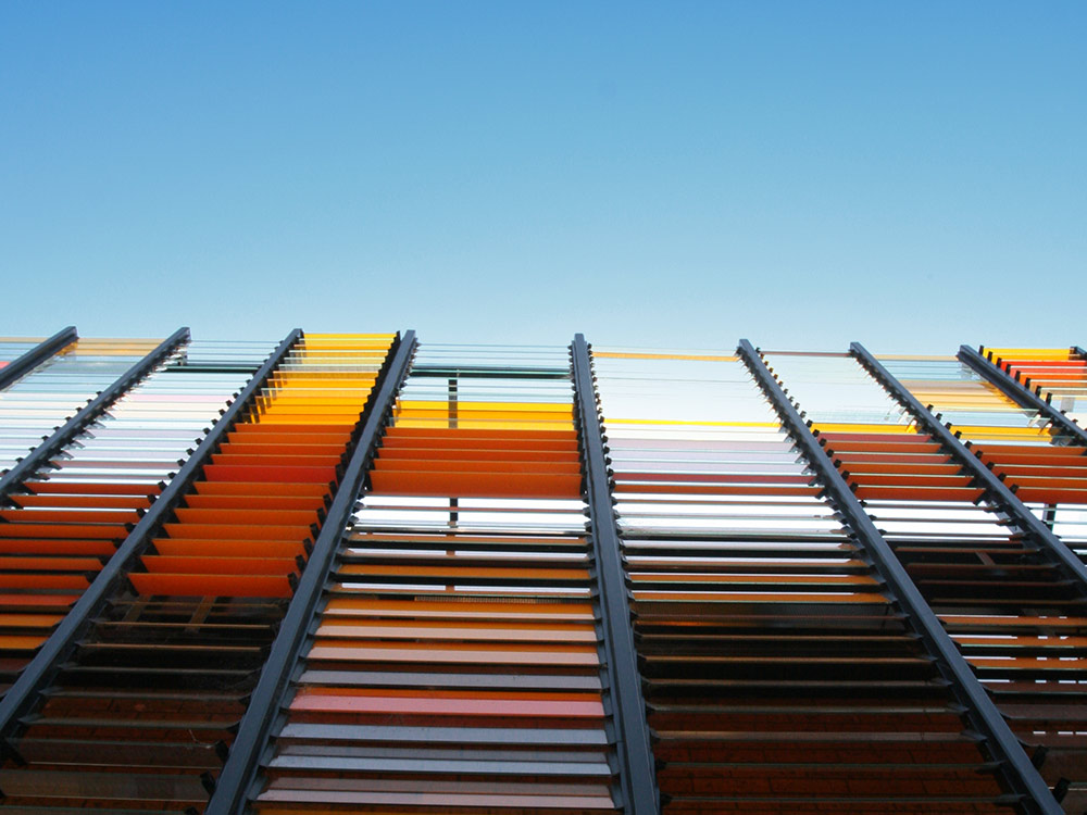 Louvre Windows With Colourful Blades Australia