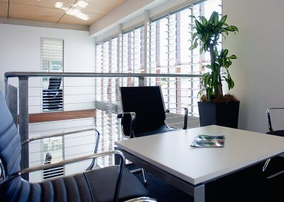 Breezway Powerlouvre Windows in commercial buildings automatically control the environment to keep occupants feeling fresh