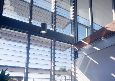Breezway Powerlouvre Windows are a sleek and innovative way to ventilate a building