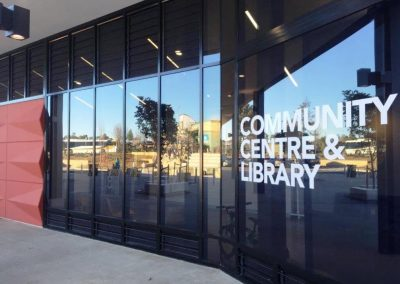 Carnes Hill Community Centre & Library with lower level Breezway Louvres