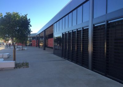 External facade of Carnes Hill Community Centre & Library Facility