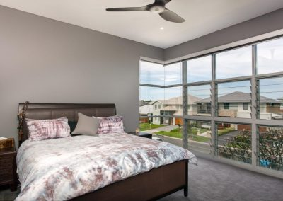 Manually operated Breezway louvres in the bedroom