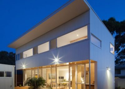 Night view of the Erpingham House using Breezway Louvres