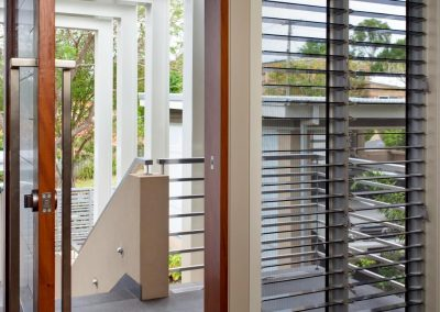 Breezway louvres at front entrance