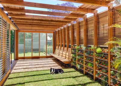 Breezway louvres in outdoor room