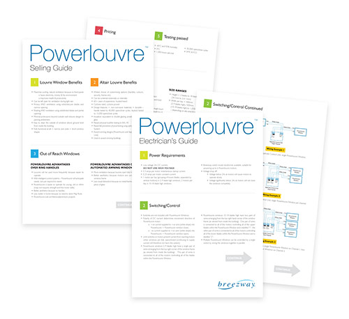 Breezway Powerlouvre Selling and Electricians Guide