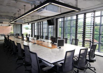 breezway louvres in boardrooms keep occupants cool during meetings