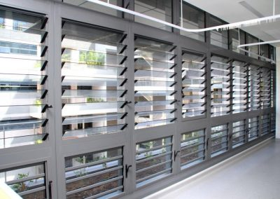 Internal perspective of breezway louvres open